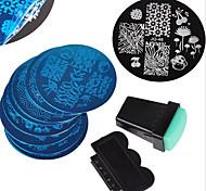 abordables -12 pcs Plaque d'estampage Manucure Manucure pédicure Design Tendance Elégant / Mode Quotidien / Plate Stamping / Métal