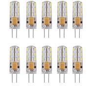 economico -10 pezzi 1 W Luci LED Bi-pin 460 lm G4 Tubolare 24 Perline LED SMD 3014 Decorativo Bianco caldo Luce fredda 12 V / RoHs