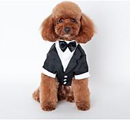 economico -Cane Costumi Cappottini Completi Formale Matrimonio All'aperto Inverno Abbigliamento per cani Vestiti del cucciolo Abiti per cani Nero Costume per ragazza e ragazzo cane Cotone S M L XL XXL