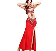 abordables -Danse du ventre Jupe Gland Paillette Femme Utilisation Sans Manches Coton cristal Chinlon Spandex / Spectacle