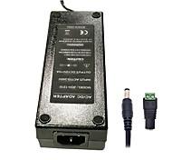 economico -zdm 1pc 120w dc12v 10a ac alimentatore dc5.5 x 2.1mm adattatore di alimentazione di qualità superiore per striscia led - nero (ac100 ~ 240v 50 hz a dc 12v)
