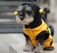 economico -Gatto Cane Costumi Felpe con cappuccio Vestiti del cucciolo Animali Cosplay Abbigliamento per cani Vestiti del cucciolo Abiti per cani Giallo Costume per ragazza e ragazzo cane Cotone XXS XS S M L XL