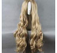 abordables -Perruque Synthétique Perruques de Déguisement Droit Droite Perruque Blond Long Très long Blond Platine Cheveux Synthétiques Femme Au Milieu Blond