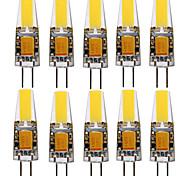 abordables -10pcs G4 1505 4W 300-400lm LED lumières bi-broches blanc chaud blanc froid 360 lumières d'angle de faisceau spot AC / DC12V