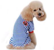 economico -Cane Tuta Pigiami Vestiti del cucciolo Marinaro Casual Inverno Abbigliamento per cani Vestiti del cucciolo Abiti per cani Nero Rosso Blu Costume per ragazza e ragazzo cane Cotone S M L XL XXL