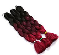 abordables -Rajouts de Tresses Droit Tresses Jumbo Cheveux Synthétiques Cheveux Tressée Longueur moyenne Rajouts Colorés