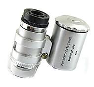 abordables -La lampe à LED de microscope 60 fois allume la poche portable avec des loupes de lampe