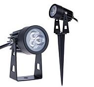 abordables -Projecteur extérieur 3w 255lm led 3 leds lumières extérieures jardin pelouse paysage lampe blanc chaud blanc froid ac85-265v