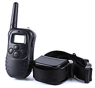 abordables -Chien aboiement Colliers d'Entraînement pour Chien Anti-aboiement LCD Télécommande 300M Electronique / Electrique Leurre de vibration Couleur Pleine Plastique Noir