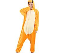 abordables -Adulte Pyjamas Kigurumi Dragon Combinaison de Pyjamas vison de velours Orange Cosplay Pour Homme et Femme Pyjamas Animale Dessin animé Fête / Célébration Les costumes
