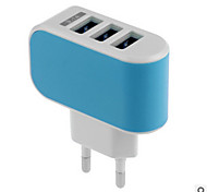 cheap -Home Charger USB Charger US Plug / EU Plug Fast Charge / Multi Ports 3 USB Ports 3.1 A for
