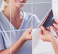 abordables -Formes Stickers Muraux Salle de bain, Pré-coller PVC Décoration d'intérieur Stickers muraux
