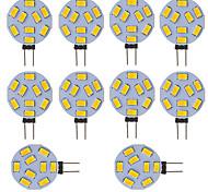 abordables -ampoule led voiture ronde camping car marine rv lumière de la maison 9 smd 5730 120 degrés 12-24v dc / ac (10 pièces)