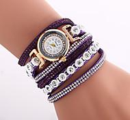 economico -Per donna Orologio alla moda Orologio braccialetto Analogico Quarzo Donne Fantastico imitazione diamante Colorato / Di similpelle trapuntata