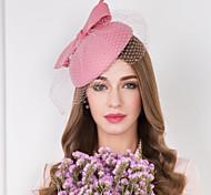 economico -Lana / Tulle / A rete Cappello Kentucky Derby / fascinators / cappelli con Fantasia floreale 1 pc Matrimonio / Occasioni speciali / Casuale Copricapo