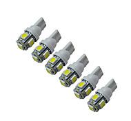 abordables -Jiawen 6pcs 5-5050 smd voiture t10 a mené le remplacement des lampes de tableau de bord inversé pour feux de gabarit dc 12v