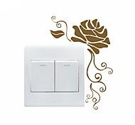 abordables -floral& plantes stickers muraux salon, sticker mural amovible de décoration de la maison pvc 16 * 11cm