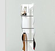 abordables -formes stickers muraux salon, vinyle amovible décoration de la maison sticker mural 17 * 16cm * 3pcs