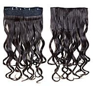 economico -clip in estensioni per capelli sintetiche 24 pollici 60 cm 120g 5 clip in capelli sintetici ricci ondulati 16 colori
