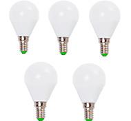 economico -5 pezzi 7 W Lampadine globo LED 800 lm E14 E26 / E27 G45 12 Perline LED SMD 2835 Decorativo Bianco caldo Luce fredda 220-240 V 110-130 V / RoHs / CCC / ERP / LVD