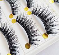 abordables -Accessoires de Maquillage Faux Cils Cils courbés Dense Bouclé Fibre Quotidien Cils Entiers Croisés Longs Naturels - Maquillage Maquillage Quotidien Cosmétique Accessoires de Toilettage
