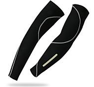 abordables -1 paire XINTOWN Manches de vélo Chauffe-bras Manches de compression UPF 50 Poids Léger Ecran Solaire Cyclisme Noir Elasthanne Hiver pour Homme Femme Adulte Vélo de Route Vélo tout terrain / VTT Pêche