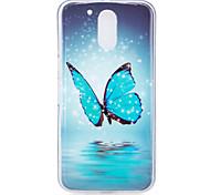 economico -telefono Custodia Per Motorola Per retro MOTO G4 Fosforescente Fantasia / disegno Farfalla Morbido TPU