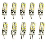 abordables -10pcs 20pcs g4 1w led bi-broches lumières 120 lm 24 perles led 12v 3014smd 10w 20w ampoule halogène équivalent blanc chaud blanc froid rohs