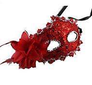 abordables -Masque Masque de mascarade Masque de carnaval Inspiré par Carnaval vénitien Noir Marron Halloween Carnaval Nouvel an Adulte Femme