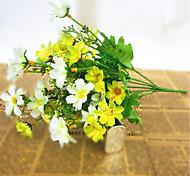 abordables -plateau de table en soie de style pastoral flowe 1bouquet 30cm