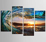 abordables -Imprimé Impressions sur toile roulées - Paysage Nature morte Classique Moderne Quatre Panneaux Tirages d'art