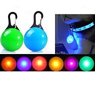 abordables -Chat Chien Etiquettes Lumières de collier Collier LED pour animaux de compagnie Etanche Lampe LED piles comprises Monture à Clip Sécurité Monture à Clip Coloré Couleur Pleine Plastique Transparente
