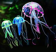 abordables -Aquarium Décoration d'aquarium Bocal à Poissons Méduse Violet Artificiel Silicone 1 jeu