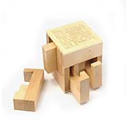 economico -Modellini di legno Rompicapo Puzzle 3D di legno Gioco educativo Giocattoli Quadrato Test d'intelligenza Originale Legno Da ragazza Da