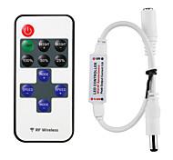 abordables -mini télécommande pour gradateur rf simple couleur led lumières de bande pour 12V dc led bandes lumineuses 12a télécommande sans fil pour dimmable 3528 5050
