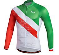 abordables -Miloto Homme Manches Longues Maillot Velo Cyclisme Rayure Cyclisme Chemise Shirt Maillot VTT Vélo tout terrain Vélo Route Respirable Séchage rapide Bandes Réfléchissantes Des sports 100 % Polyester