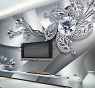 abordables -Décoration artistique 3D Décoration d'intérieur Moderne Revêtement, Toile Matériel adhésif requis Mural, Couvre Mur Chambre
