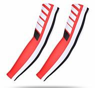 abordables -1 paire XINTOWN Manches de vélo Chauffe-bras Manches de compression UPF 50 Poids Léger Ecran Solaire Cyclisme Rouge Elasthanne Hiver pour Hommes Femme Adulte Vélo de Route Vélo tout terrain / VTT