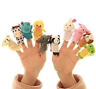 abordables -10 pcs Marionnettes de Doigt Peluche Marionnettes à main Séries animales Interaction parent-enfant Textile Coton Jeu imaginatif, bas, grands cadeaux d'anniversaire fournitures de faveur de fête