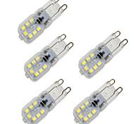 abordables -5pcs 4 W Ampoules Maïs LED 350 lm G9 T 14 Perles LED SMD 2835 Intensité Réglable Décorative Blanc Chaud Blanc Froid 220-240 V 200-240 V / 5 pièces / RoHs