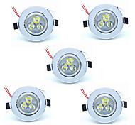 abordables -5pcs 3 W 300 lm 3 Perles LED Installation Facile Encastré LED Encastrées Blanc Chaud Blanc Froid 220-240 V Maison / Bureau Chambre des Enfants Cuisine / 5 pièces / RoHs / CE / CCC