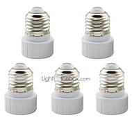 abordables -5 pcs e27 à gu10 support de base de convertisseur adaptateur en céramique pour lampe led