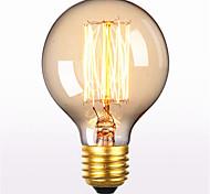 abordables -1 pc 60 W E26 / E27 G80 Blanc Chaud 2300 k Rétro / Décorative Ampoule à incandescence Vintage Edison 220-240 V