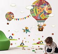 abordables -animaux / mode / formes stickers muraux avion stickers muraux stickers muraux décoratifs, vinyle décoration de la maison sticker mural mur / verre / salle de bain décoration 1 90 * 30 cm