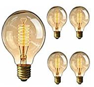 economico -5 pezzi 40 W E26 / E27 G95 Bianco caldo 2200-2800 k Retrò / Oscurabile / Decorativo Lampadina a incandescenza vintage Edison 220-240 V