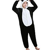 abordables -Adulte Camouflage Pyjamas Kigurumi Tenues de nuit Panda Combinaison de Pyjamas Flanelle Toison Blanche Cosplay Pour Homme et Femme Pyjamas Animale Dessin animé Fête / Célébration Les costumes