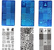 abordables -1set 10pcs Outil Nail Art Nail DIY Outils Outils de peinture pour les ongles Manucure Manucure pédicure Design Tendance Elégant / Relief / unique / Plate Stamping
