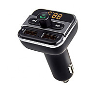abordables -upgarde bluetooth mains libres appelant fm émetteur musique lecteur support tf / u disque double usb chargeur de voiture universel