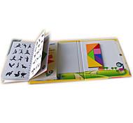 economico -Tangram Puzzle Modellini di legno A calamita Per bambini Unisex Da ragazzo Da ragazza Giocattoli Regalo