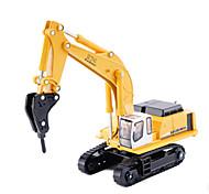 abordables -1:87 Excavateur Plate-forme de forage Véhicule de construction de camion jouet Véhicules en Métal Véhicules à Friction Arrière Simulation Automatique Enfant Jouets de voiture